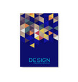 cover design template with triangle geometric vector image vector image