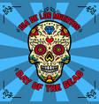 day of the dead dia de los muertos banner vector image vector image