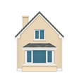 Detailed house icon isolated on white background vector image vector image