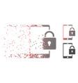 dispersed pixel halftone lock smartphone icon vector image vector image