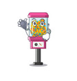 doctor candy vending machine isolated in mascot vector image vector image