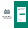 drum celebration grey logo design and business vector image vector image