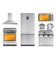 electric appliance and modern kitchenware set vector image