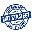 exit strategy blue round grunge stamp vector image vector image