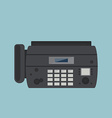 Fax machine vector image