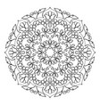 floral mandala round pattern vector image vector image