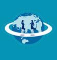 global business businesswomen greet woman vector image vector image