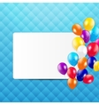Glossy Balloons Background vector image vector image