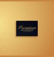 golden premium pattern background design vector image vector image