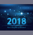 happy new year 2018 christmas vector image