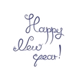 Happy new year congratulation vector image