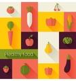 healthy food and farm fresh concept vector image vector image
