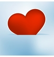 Heart label from paper Valentines day card EPS8 vector image