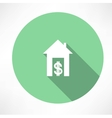 house and money icon vector image