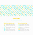 lighting concept with thin line icons vector image vector image
