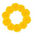 marigold flower - tagetes wreath vector image