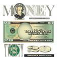 money 20 Dollars vector image vector image