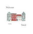 netherlands houses set hand drawn vector image vector image