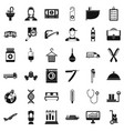 occupation icons set simple style vector image vector image
