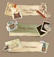 Paper Photo Banners vector image vector image