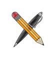 pencil and pen design vector image