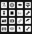 photo studio icons set squares vector image vector image
