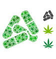pills mosaic of hemp leaves vector image