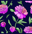 pink peony seamless pattern vector image vector image