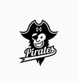 pirate mascot vector image vector image