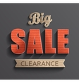 Poster big sale clearance vector image vector image