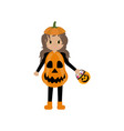 pumpkin halloween costume vector image