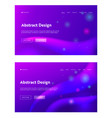 purple abstract futuristic sparkle landing page vector image vector image