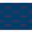 red triangle ribbon on indigo blue background vector image vector image