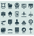 set marketing internet and service icons vector image vector image