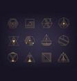 set of abstract geometric logos art deco vector image vector image