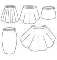 set of skirt vector image
