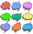 set of text balloon colorful style vector image vector image