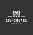 square lion hipster vintage logo icon vector image vector image