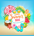 summer 2020 greeting banner vector image