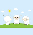 three funny sheep vector image