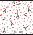 travel france seamless pattern paris city vector image vector image