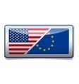 USA - EU sign vector image vector image