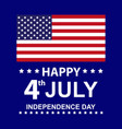 usa happy independence day poster vector image vector image
