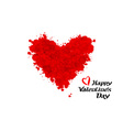 Valentines heart day lettering vector image