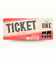 vintage retro cinema admit one tickets vector image