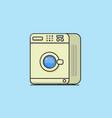 washing machine modern style flat vector image vector image