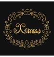 Xmas Christmas Golden Lettering Design vector image vector image