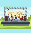 outdoor summer festival concert with pop music vector image
