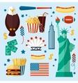 New York USA set vector image