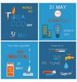 31 may world no tobacco day promo posters set vector image vector image